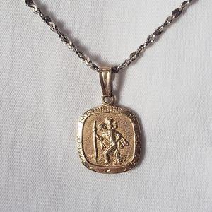 10K Gold St.Christopher Necklace